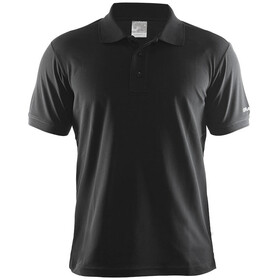 Craft Classic Polo Pique Fietsshirt Korte Mouwen Heren, black